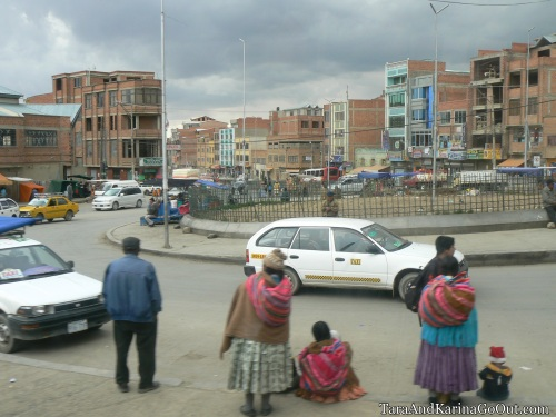 A traffic circle in La Paz, Bolivia, by TKGO