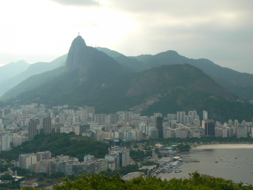 The view from atop Sugarloaf in Rio de Janeiro