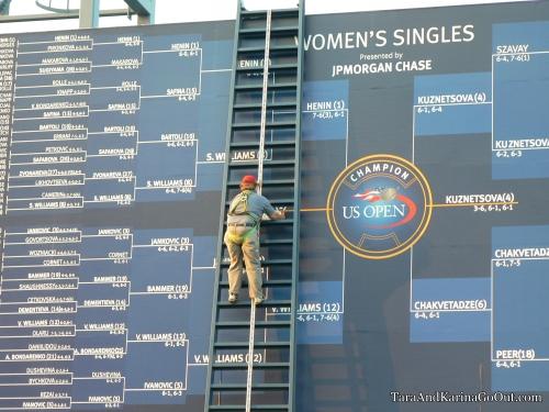 US Open 2007 draw leaderboard
