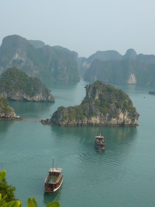 Junks in Halong Bay, Vietnam, by Olivia for TKGO