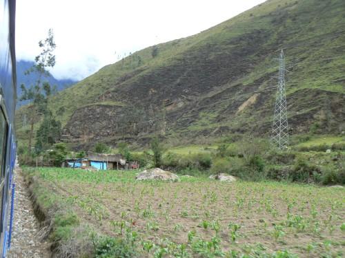 Train from Cusco Cuzco to Aguas Calientes Peru Machu Picchu