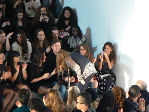 Charlotte Ronson makes her after-show appearance, New York Fashion Week Fall 2011