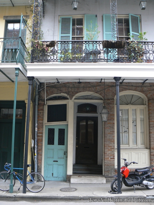 Houses of typical architecture in the French Quarter, New Orleans, Louisiana