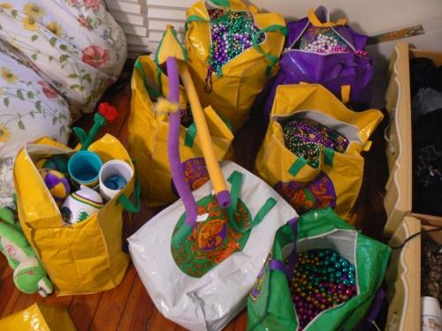 Mardi Gras beads 2011