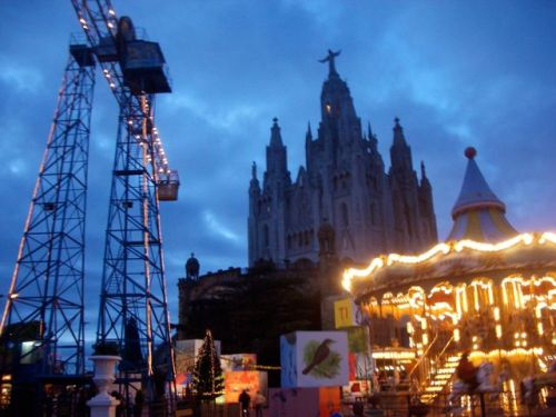 Tibidabo Barcelona at Night